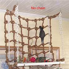 New Parrot Swing Ladder Toys Rope Net with Buckles Pet Bird Bites Climb Chew Toys Hanging Cockatiel Swing Parrot Cage Bird Toys(China)