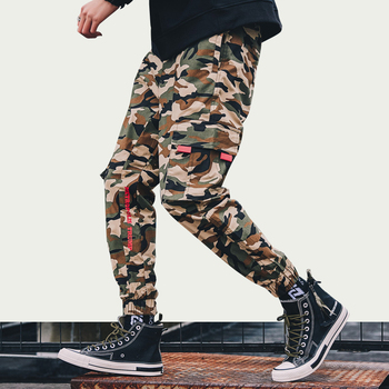 iiDossan 2020 Fashion Military Cargo Pants Men Joggers Men Multi-pockets Baggy Pants Casual Trousers Overalls Camouflage Pants