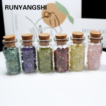 Runyangshi 17 Types Natural Quartz Crystal Stone Crystal Gravel Wishing Bottle Gemstone Natural Quartz Stones Chip Mineral 1