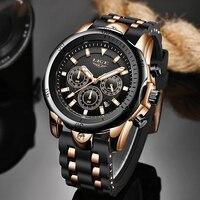 LIGE-reloj analógico de cuarzo para hombre, accesorio de pulsera resistente al agua con calendario, complemento deportivo Masculino de marca de lujo con diseño militar e informal, nuevo