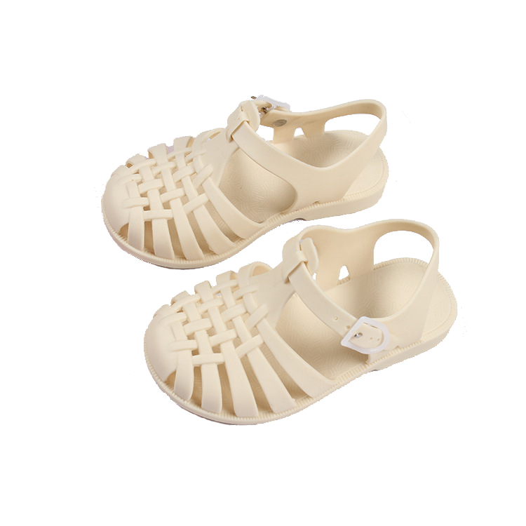 Children's Shoes Pvc Soft Baby Boy Beach Sandals Girls Kids Summer Crystal Gladiator Sandals Casual Shoes Flat Heel New Jelly