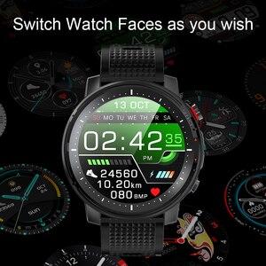 Image 5 - L15 Smart Horloge Mannen Custom Diy Horloge Ecg Ppg Hartslagmeter Zaklamp IP68 Waterdichte Oproep Herinnering Smartwatch Pk L11 l13