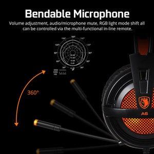 Image 3 - SADES USB 7,1 Stereo wired gaming kopfhörer spiel headset über ohr mit mic Voice control für laptop computer gamer