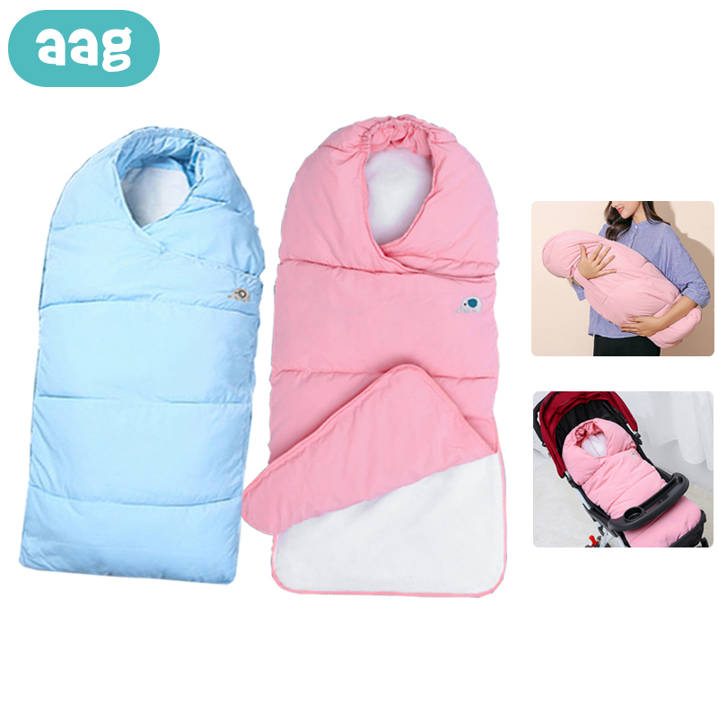 AAG Newborns Winter Envelope Wrap Baby Sleeping Stroller Bag In The Hospital Diaper Cocoon For Newborns Envelope For Discharge