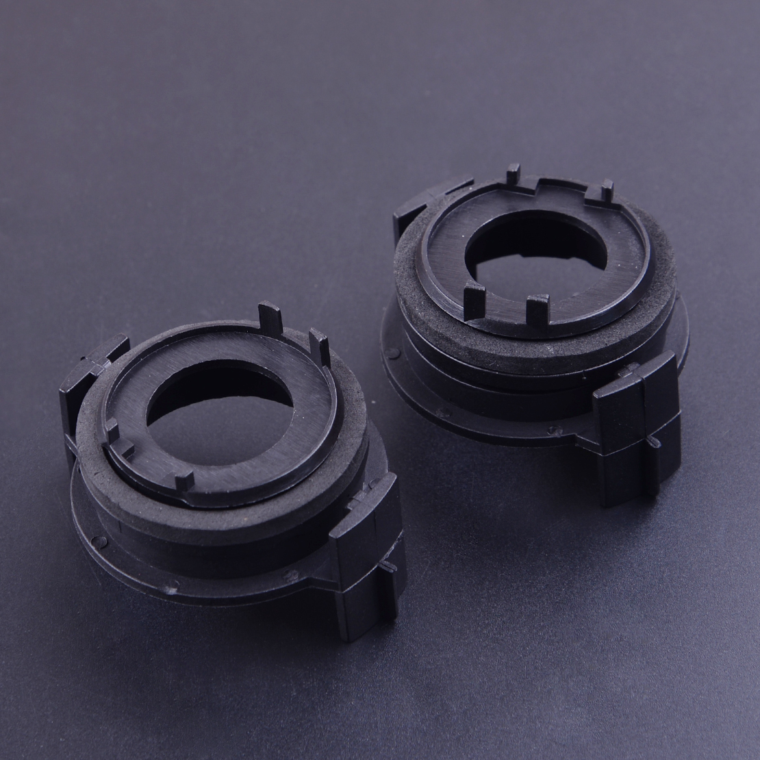 CITALL 2pcs Black Plastic <font><b>LED</b></font> Headlight Bulbs Lamp Light Clip <font><b>Adapter</b></font> Socket Base Holder Retainer Fit For <font><b>BMW</b></font> <font><b>E46</b></font> E90 3 Series image