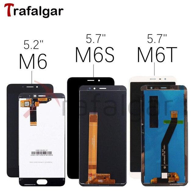 สำหรับMeizu M6จอแสดงผลLCD Touch Screen Digitizer M711H M711M M711Q M712H M712Q M811Q 6T M6S S6 LCDสำหรับMEIZU M6Tหน้าจอLCD