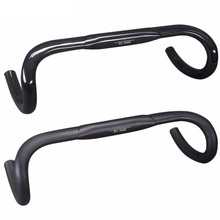 Kierownica rowerowa 31 8 Carbon Road kierownica Carbon fiber Bike wygięty uchwyt Bar Ultralight Carbon Handlebars38 40 42 44 46cm tanie tanio FCFB 31 1 - 32 5mm Kierownica szosowa wygięta kierownica 401-500mm Rowery szosowe TO5T13 z włókna węglowego 31 8mm
