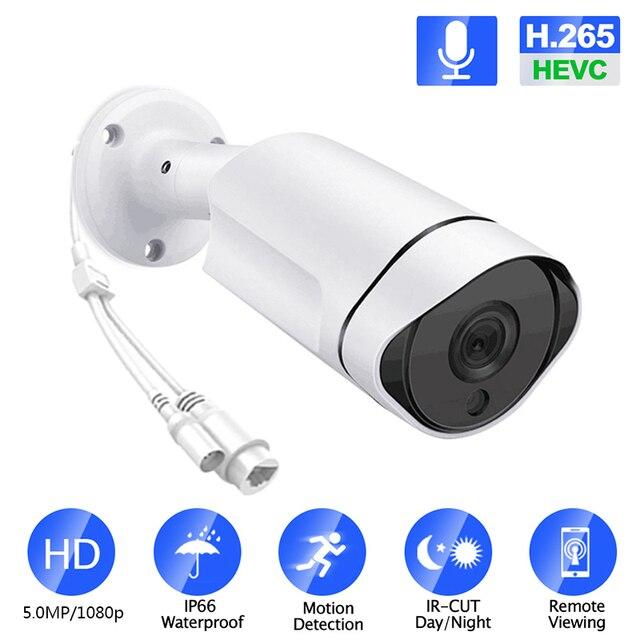 5MP 3.0MP 2MP étanche en plein air IR coupe nuit Vision réseau de sécurité CCTV Onvif IP 48V POE H265 caméra Audio IOS/android vue
