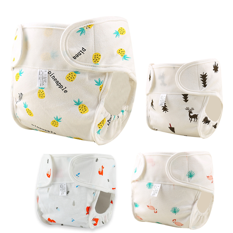 Baby Nappies Diaper Cartoon Reusable Washable Cloth Diapers Nappy Cover Waterproof Newborn Baby Traning Panties Diapers Pocket