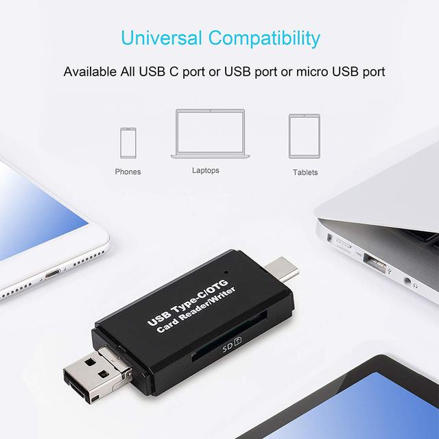 SD Card Reader USB 3.0 OTG Micro USB Type C Card Reader Lector SD Memory Card Reader For Micro SD TF USB Type-C OTG Cardreader