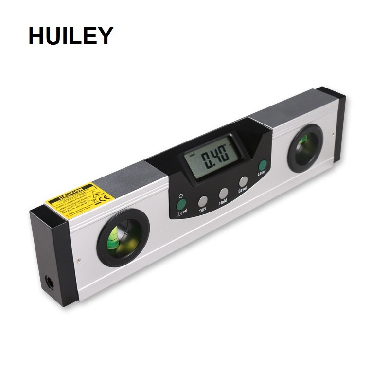 Red Laser Nível Magnético Régua Transferidor Inclinômetro Digital LCD Liga de Alumínio Nível de Espírito Nível de Medição A Laser de Bisel