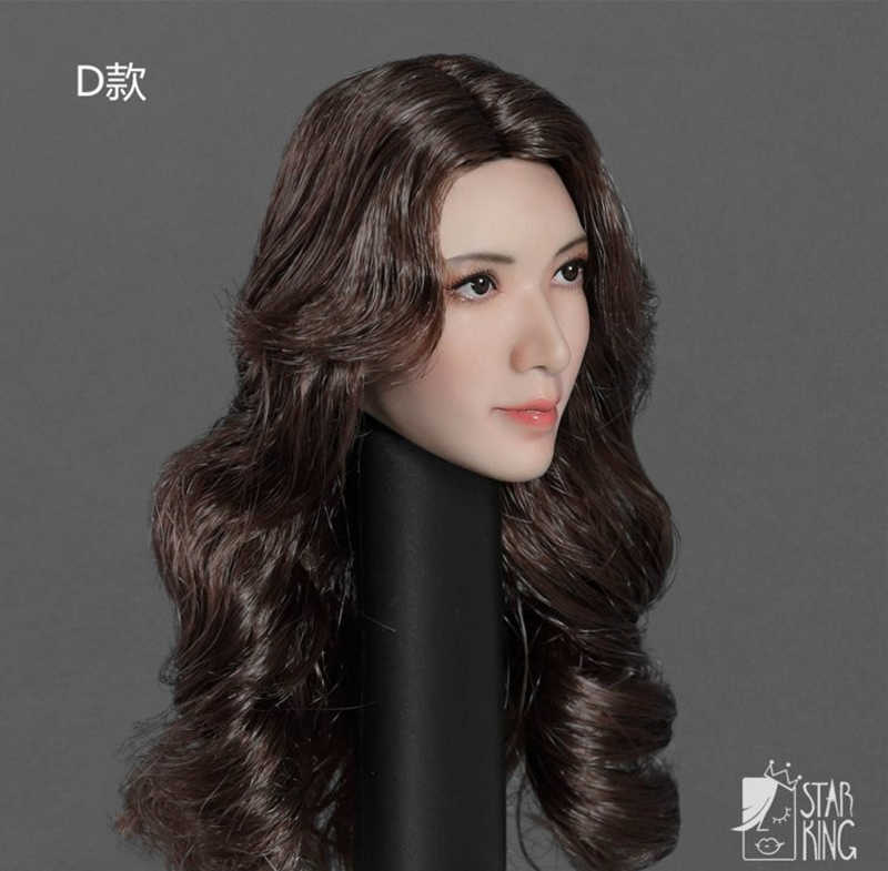 StarKingToys 1//6 Red Hair  Asia Female Lin Chi-ling Head Sculpted Model  SK001C