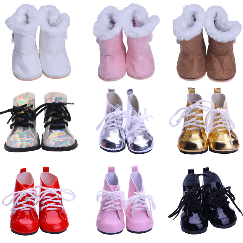 Doll 9 Styles Fashion Winter Boots For 18-Inch American & 43 Cm Born Baby Our Generation Christmas Birthday Girl's Gift