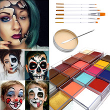 US $3.49 |Body Art Oil Painting flash color Halloween Combination Set Special Effects Stage Makeup Fake Wound Scars Wax Spatula Tool-in Body Paint from Beauty & Health on AliExpress