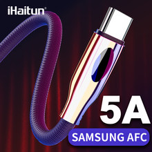 iHaitun Type C USB Cable For Samsung Galaxy S10 S9 S10E Plus A50 Note 10 9 8 Quick Charge 3.0 4.0 PD Data Phone Charger Oneplus(China)