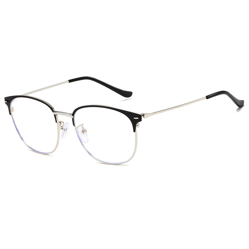 Anti Blue Light Blocking Glasses Women Fashion Alloy Frame Opitacl Reading Eyeglasses For Computer óculos De Grau Masculino