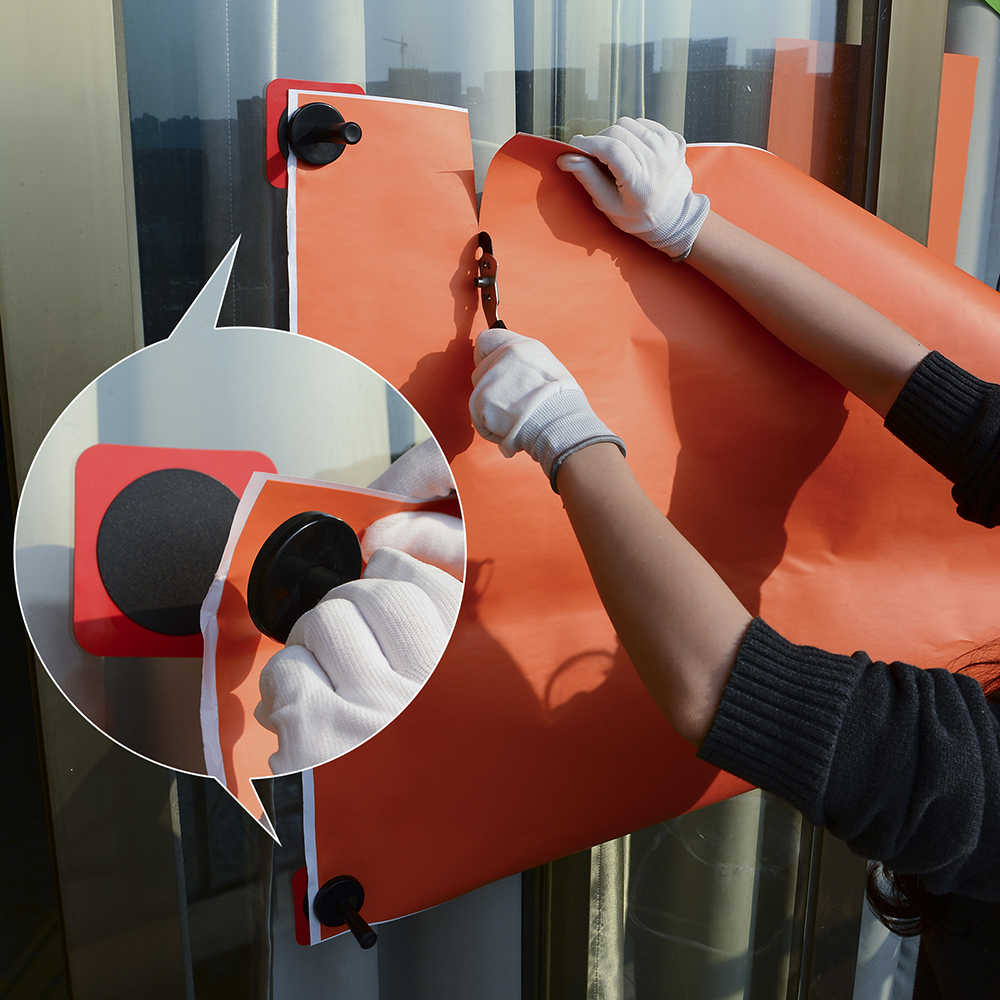 FOSHIO Auto Auto Zubehör Carbon Vinyl Wrap Magnet Rakel Schaber Tool Kit Glas Fenster Tönung Film Adsorptive Blatt Fixer