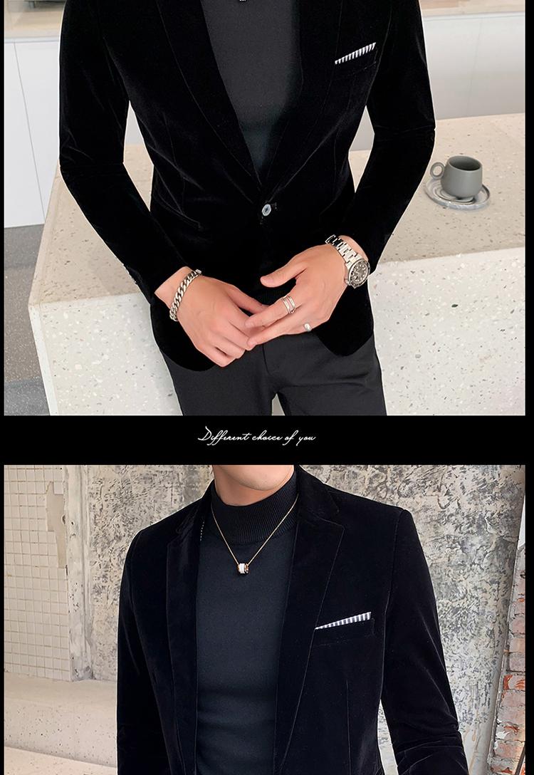 Hc327db213281438487f5b8bd1ab1c212l - Autum Velvet Wedding Dress Coat Mens Blazer Jacket Fashion Casual Suit JacketStage DJ Men's Business Blazers Veste Costume Homme