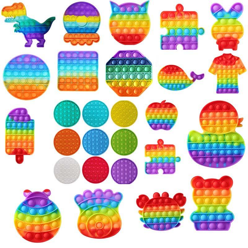 3D Push Bubble Pops Fidget Sensory Toy for Autisim Special Needs Anti stress Game Stress Relief Squishy Pop Fidget Toys