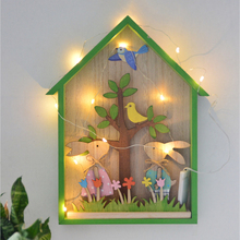 New Lovely Rabbit Decorative Shelf for Children Room Wooden House Shaped Wall Mounted Shelves Living Room Nursery Home Decor wall mounted rotating sauna wooden hourglass white sand timer 15 minutes