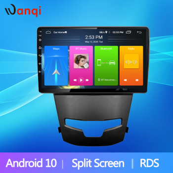 Android10 Split Screen RDS Car Navigation GPS For SsangYong Korando 3 Actyon 2 2014 2015 2016 Multimedia Player Radio NO DVD image