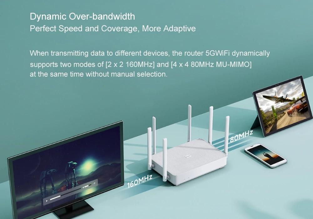 NEW Xiaomi Redmi Router AX6 WiFi 6 6-Core 512M Memory Mesh Home IoT 6 Signal Amplifier 2.4G 5GHz Both 2 Dual-Band OFDMA (4)