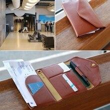 Дорожная Обложка для паспорта, складной кредитный держатель для карт, кошелек для денег, Многофункциональная Сумка для документов