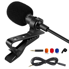 Mini 3.5mm Clip-on Lapel Microphone Omnidirectional Condenser for iPhone Android phone DSLR Camera Computer Mic