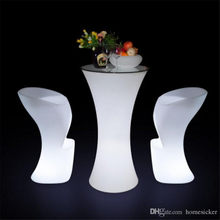 2021 Newest Rechargeable LED illuminated cocktail table Creative Lightingh Furniture disco bar nightclub supples bars furniture