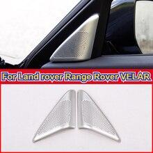 Speaker Tweeters-Cover Car-Accessories Land-Rover VELAR Trim Audio for Silver Aluminum-Alloy
