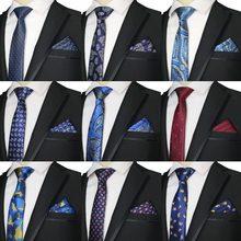 2019 New Skinny 6CM Men's Tie Handkerchief