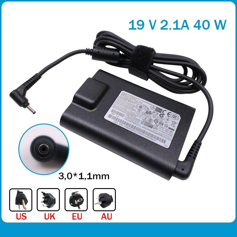 19 V 2.1A 40 W 3,0*1,1mm PA-1400-24 AC Cargador De Ordenador Portátil Para For Samsung Serie 3 5 7 9 AD-4019SL NP500P4C NP520U4C