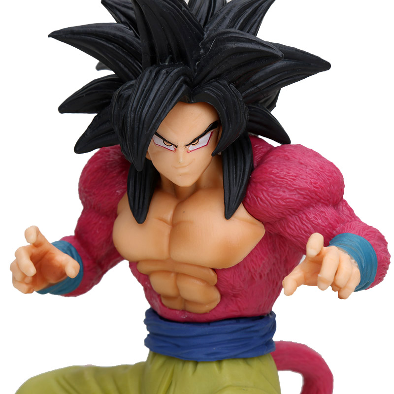 Dragon Ball Z Dokkan Battle Super Saiyan 4 SS4 Gokou Goku Action Figure Toy Figurals Model Gift