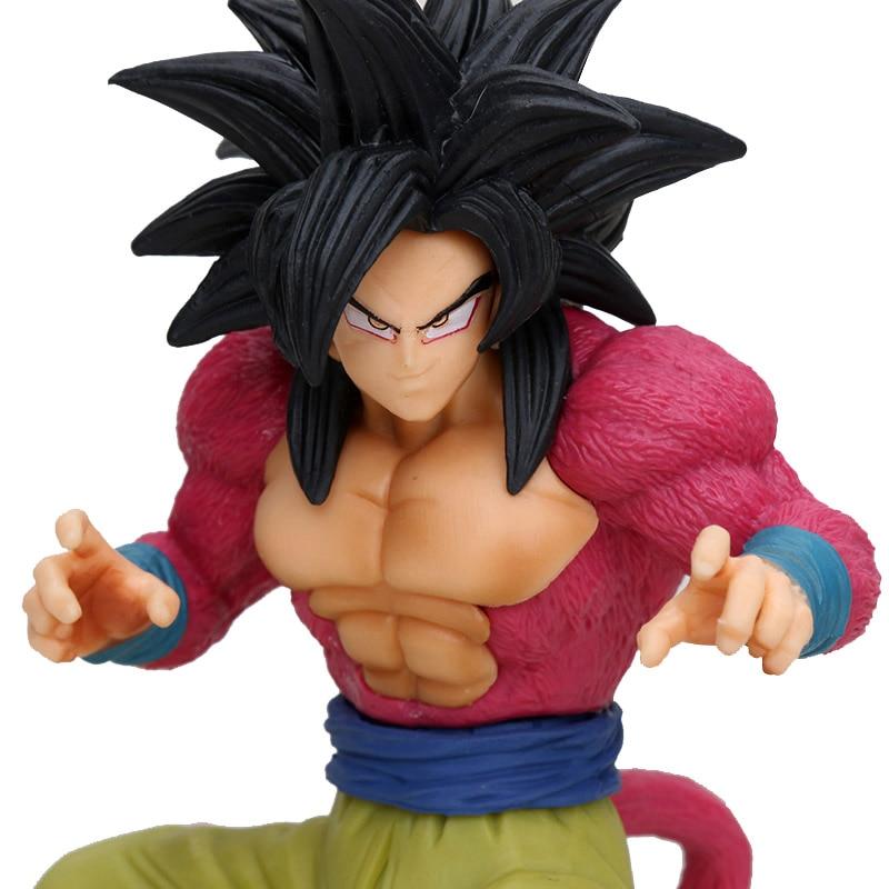 Dragon Ball Z Dokkan Battle Super Saiyan 4 SS4 Gokou Goku Action Figure Toy Figurals Model Gift