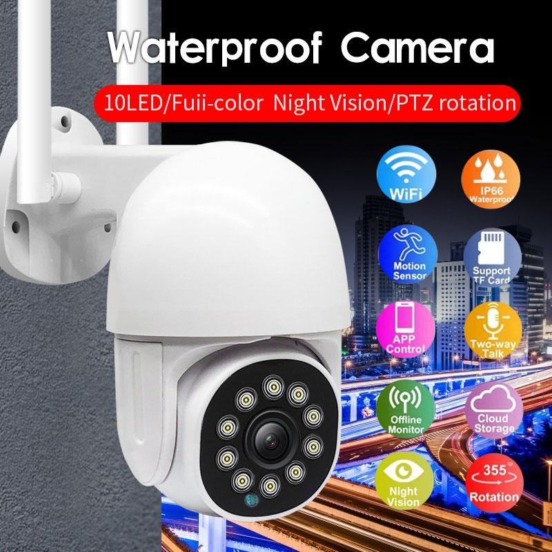 WiFi camera 1080p 2.0MP Outdoor definition Wireless Surveillance Camera bidirectional audio motion detection night vision camera