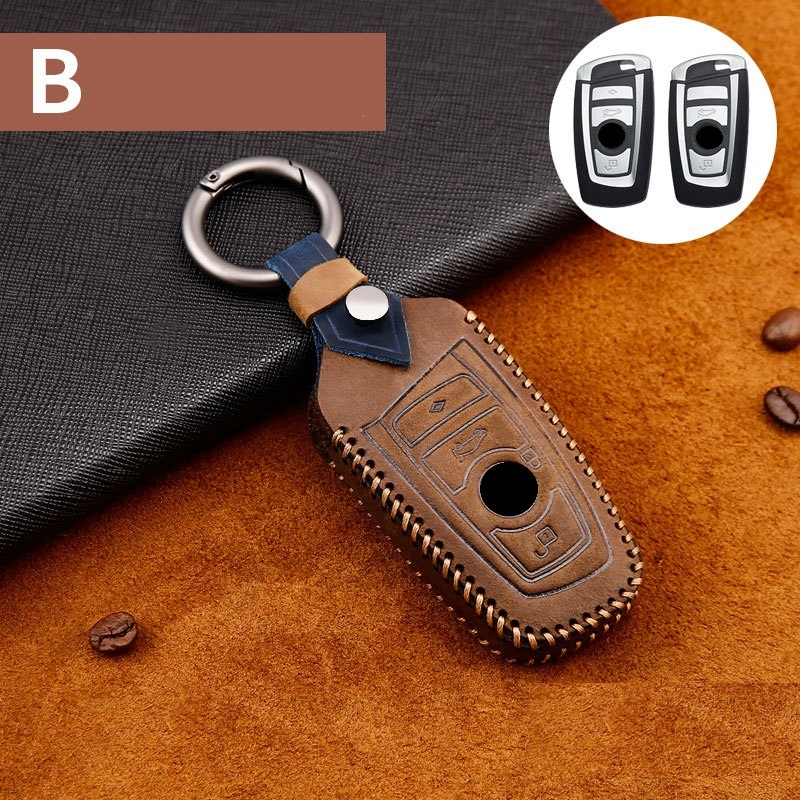 Genuine Leather Car Remote Key Case Cover For BMW 1 3 4 5 6 7 Series X1 X3 X4 X5 X6 F30 F34 F10 F07 F20 G30 F15 F16 Car-Styling