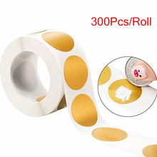 300 штук круглые золотые/Серебряные наклейки для скретч-офф 1 дюйм царапины этикетки для DIY ручной этикетки лента ручная работа поцарапанная полоса