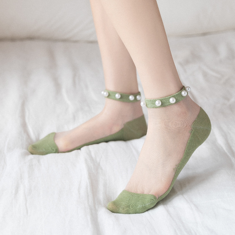 2020 Girl Spring New Fashion Ankle Socks Female Women Breathable Thin Candy Color Summer Socks