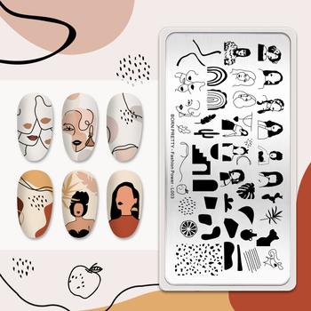 BORN PRETTY artysta tłoczniki do paznokci Fashion Design DIY Nail artystyczny obraz płytki do druku narzędzia do manicure ze stali nierdzewnej tanie i dobre opinie CN (pochodzenie) Retangle 12*6cm Square 6cm*6cm Round 5 5*5 5cm Template AB50581 Stainless Steel Tłoczenie Stamping Plates