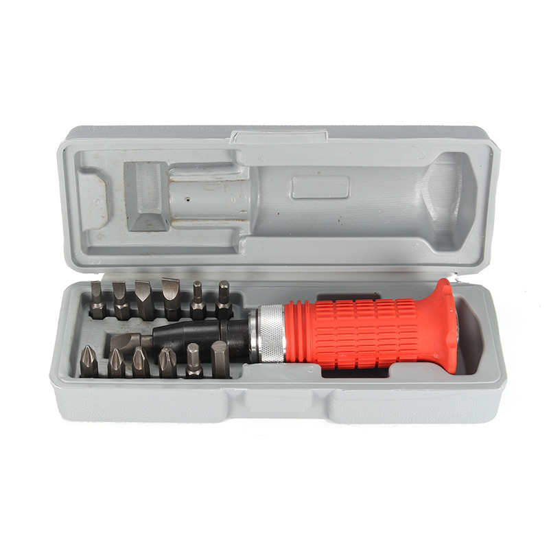 Tools : Multi-purpose Heavy Duty Impact Screwdriver Set Driver Chisel Bits Tools Socket Kit With Case High Quality Screwdriver