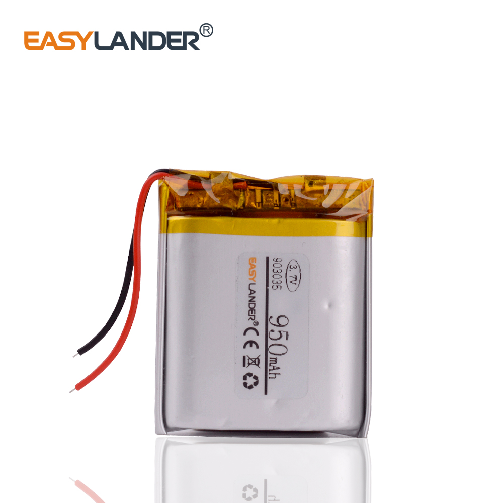 <font><b>3.7V</b></font> <font><b>950mAh</b></font> Rechargeable <font><b>li</b></font> Polymer <font><b>Li</b></font>-<font><b>ion</b></font> <font><b>Battery</b></font> For Tablet PC Power bank mobile electronic part DIY 903035 image