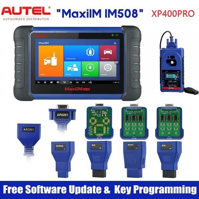 Autel أداة البرمجة الرئيسية IM508 & XP400 PRO ، ماسح ضوئي للتشخيص التلقائي ، بدون قيود IP ، PK IM608