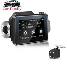 DVR Android 5.0 3 Inch 2.5D IPS Touch Screen Car Cam Build In GPS WiFi Smart DashCam Dual Lens G-Sensor Car Camera Full HD 1080P