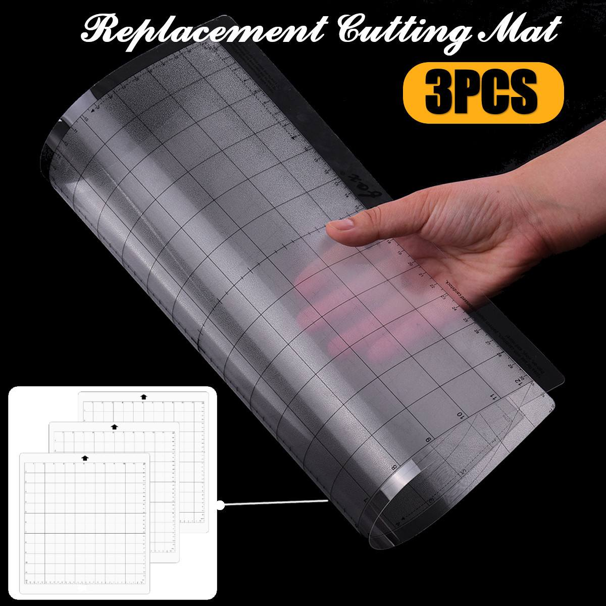 3PCS Replacement Cutting Mat Transparent Adhesive Mat Pad With Measuring Grid 12 By 12-Inch For Silhouette Cameo Plotter Machine