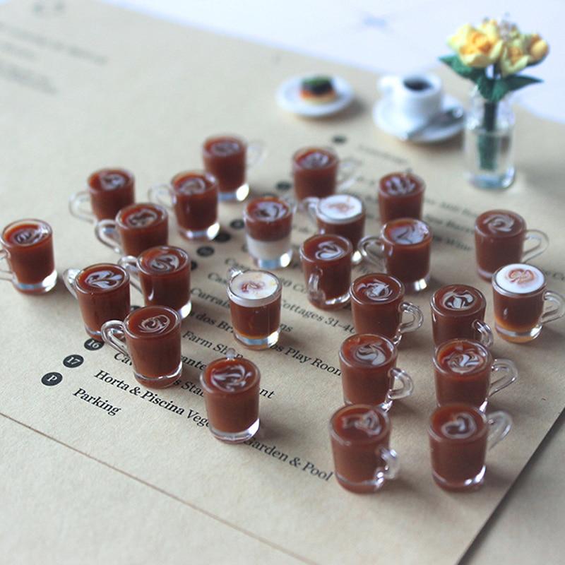 1/12 Dollhouse Miniature Accessories Decoration Mini Coffee Cup Simulation Cup Drink Pearl Milk Tea Model Toy Random Color