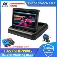 4,3 zoll TFT LCD Auto Monitor Faltbare Display Reverse Kamera Parkplatz System Für Auto Rück NTSC PAL