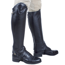 Riding-Accessories Equestrian Horse-Riding Adult Gaiters Half-Chaps Zipper Cowhide