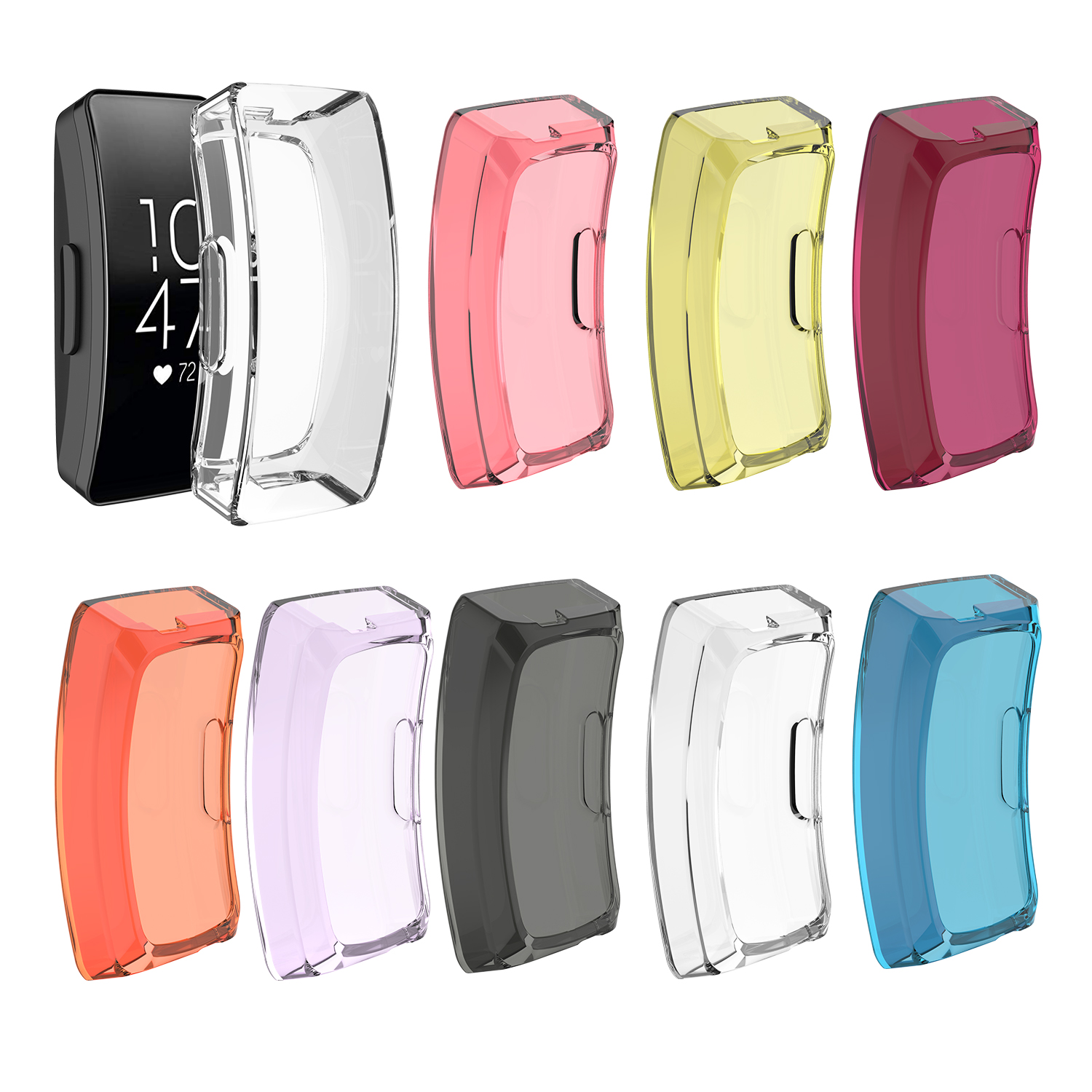 Transparent Protector For Fitbit Inspire Inspire HR/Fitbit Ace 2 Watch Case Soft TPU Protective Cover For Fitbit Ace 2 Shell
