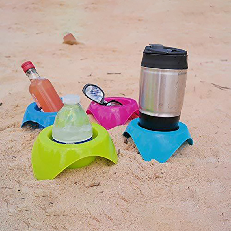 4 Pcs Beach Cup Holder Plastic Drink Cup Holder Stand Durable Sand Spike Portable For Outdoor Beverage Mobile Phone Holder