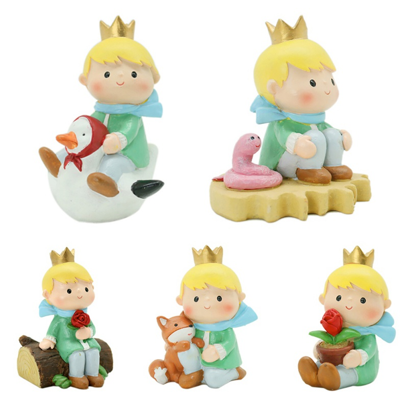 #<font><b>82018</b></font> Creative Cartoon Gifts Art Crafts Little Prince Figurine Can Be Decorated On The Desktop/ Pots/ Cake Home Decorations CM image